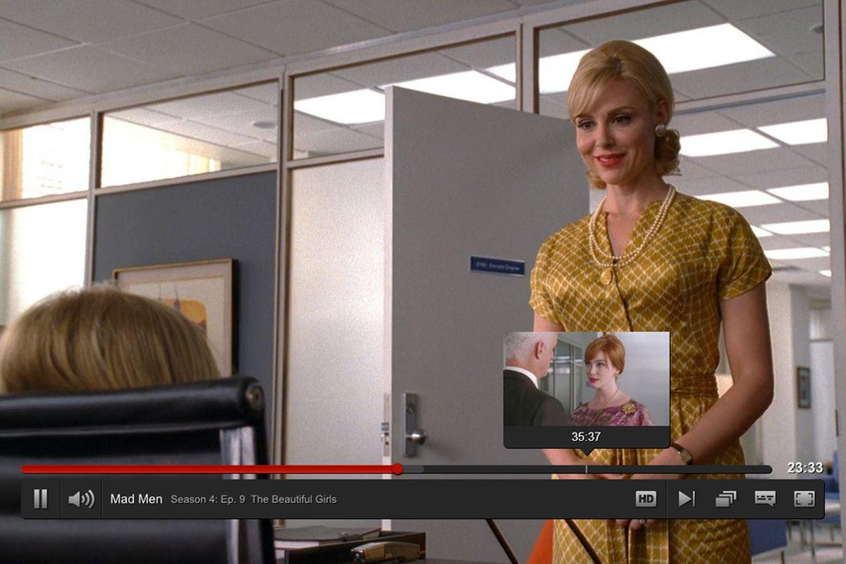 Netflix redesigned web interface