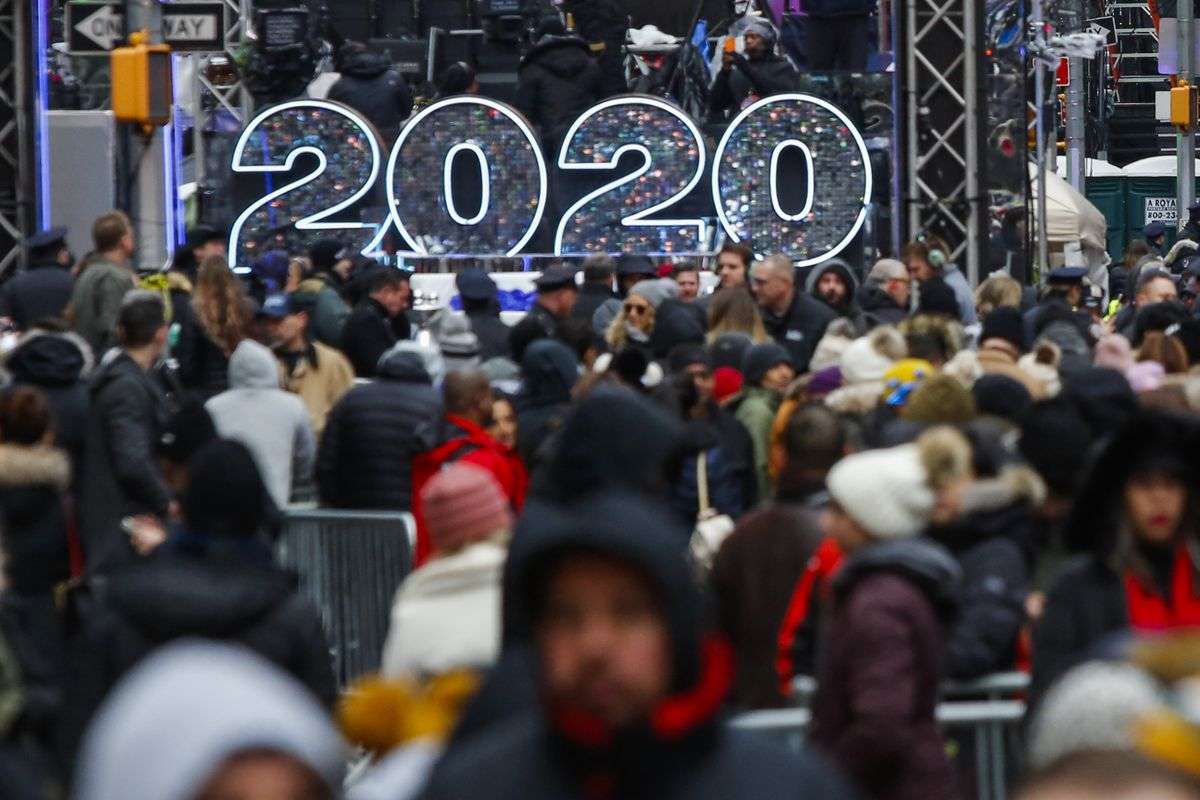 New York City Prepares For Massive Times Square New Year's Eve Celebration