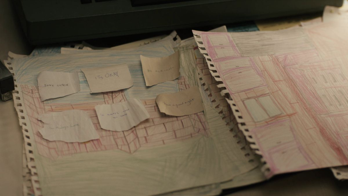 True Detective season 3 Julie Purcell drawings pink room castle