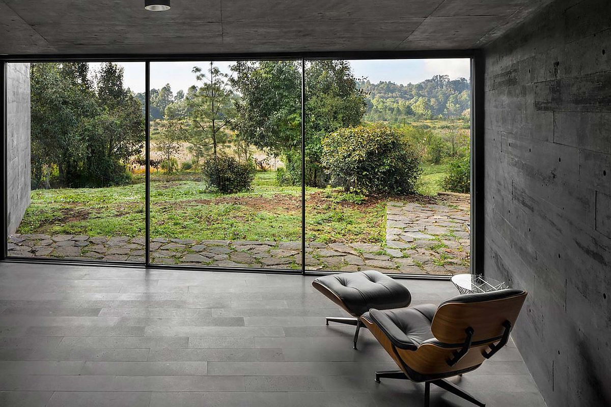 Eames chair next to window