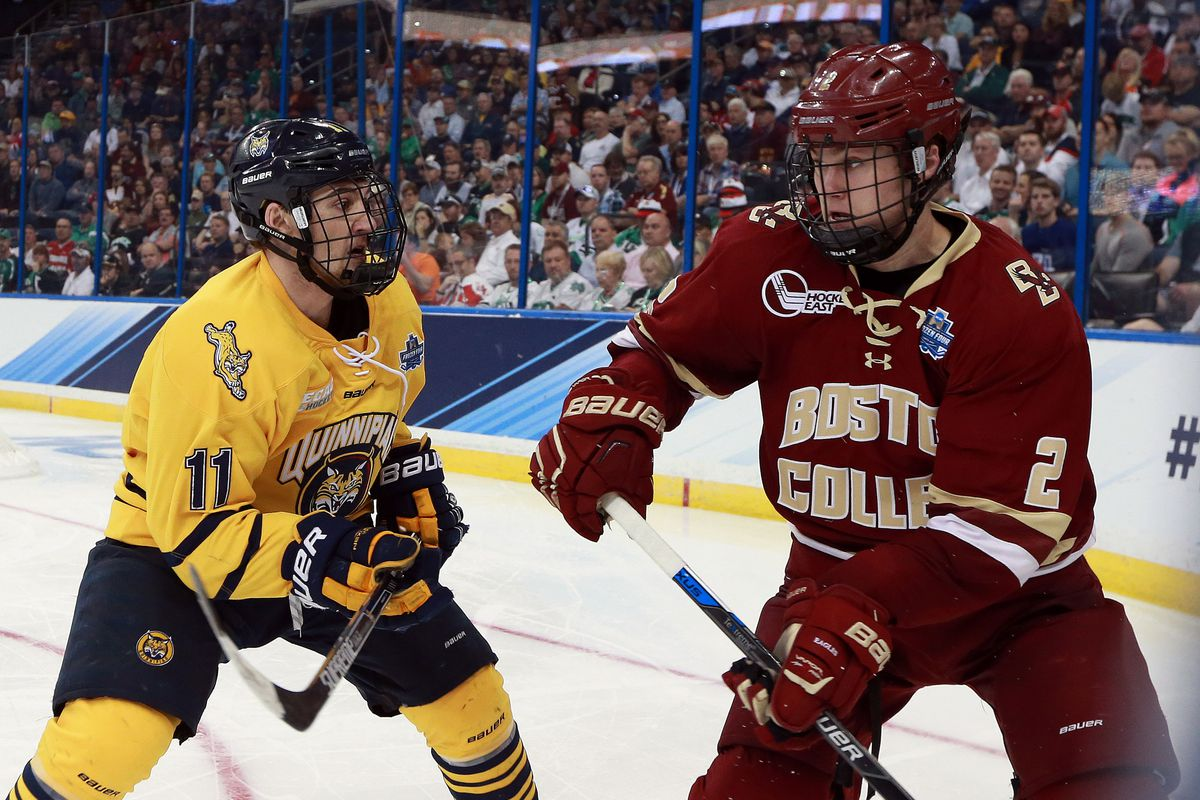 NCAA Hockey: Frozen Four-Quinnipiac vs Boston College