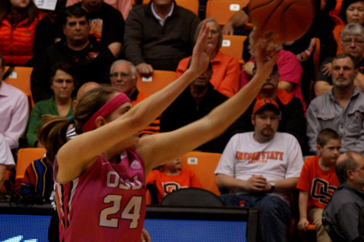 Sydney Wiese moved past Feliia Raglund to become the all-time Oregon St. leader in made 3 pointers, helping the Beavers beat Arizona St. in the process.