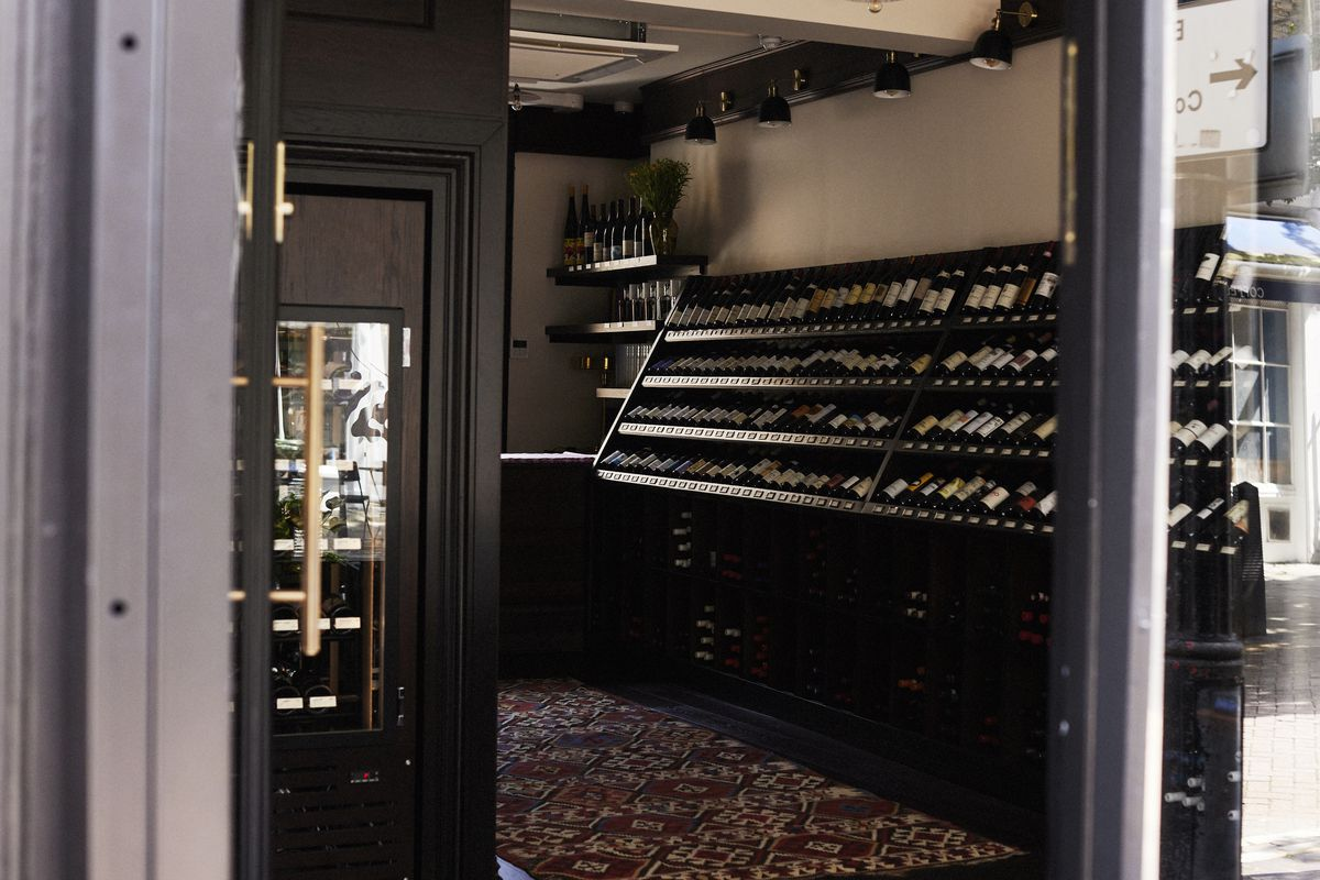 Serious shelves of wine at Shrine to the Vine