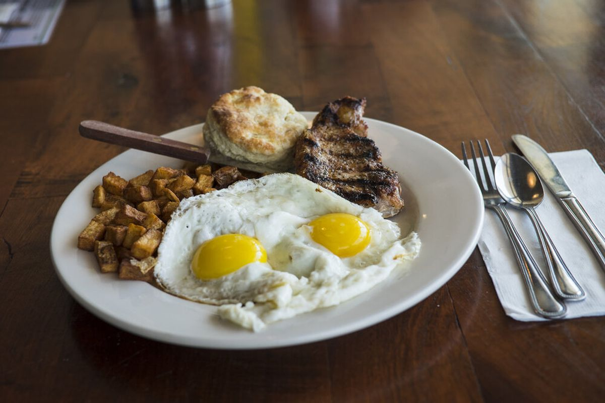 A breakfast plate from Counter Cafe