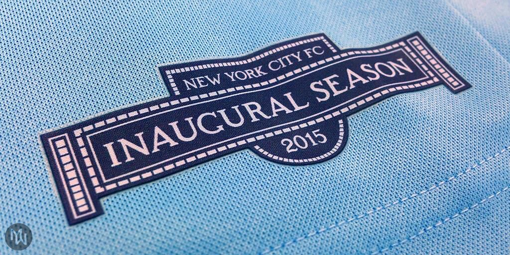 The jock tag on the NYCFC home jersey