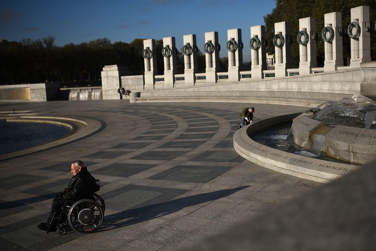 Veterans Day Commemorated At DC's World War II Memorial