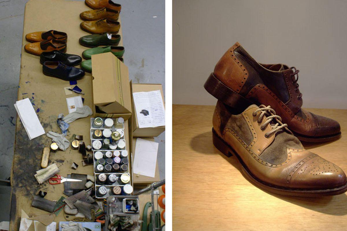 "Inside George Esquivel's West 3rd St. Atelier. Image via <a href=""http://www.parisbao.com/los-angeles/esquivel-putting-the-kick-ass-in-artisanal-shoes/"">Parisbao</a>"