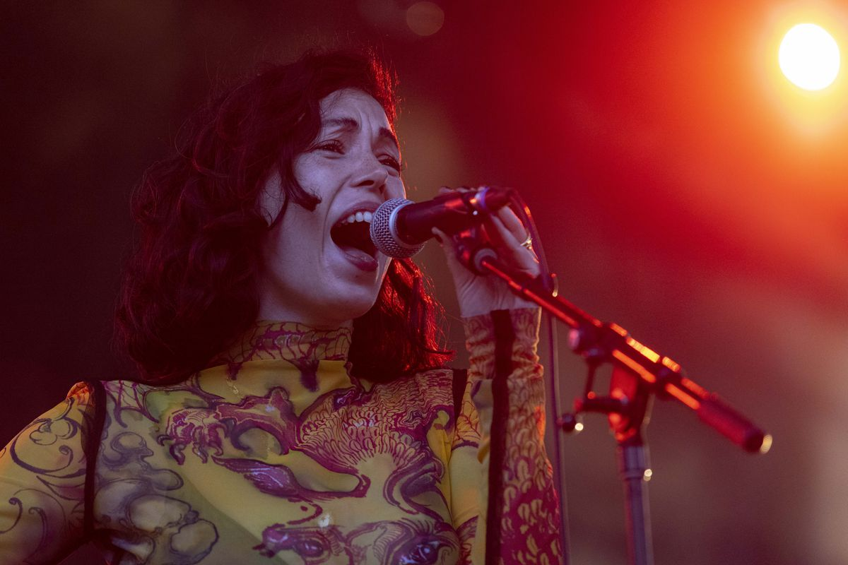 Kelly Lee Owens performs on day one of the Pitchfork Music Festival, Friday, Sept. 10, 2021.