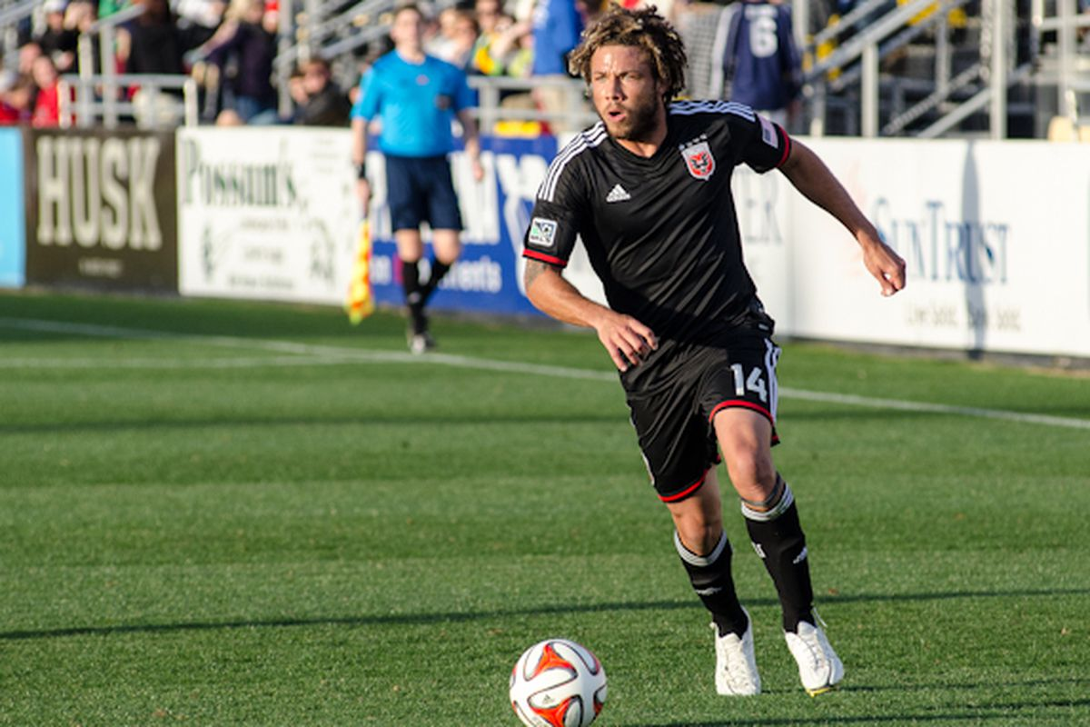 Nick DeLeon looking sharp in his new D.C. United jersey.