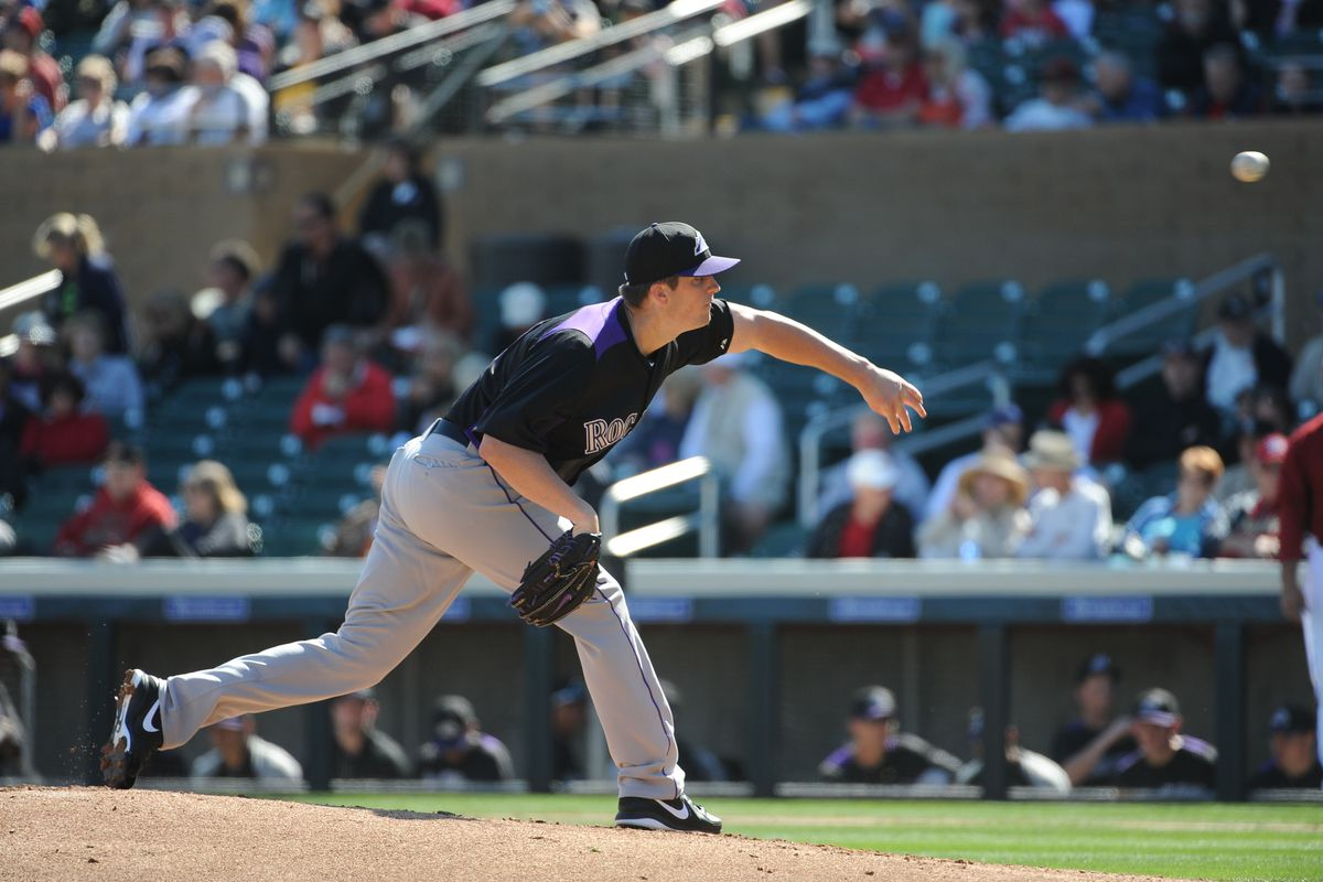 Lefty Drew Pomeranz gets the start for the Rockies today against the Chicago White Sox.