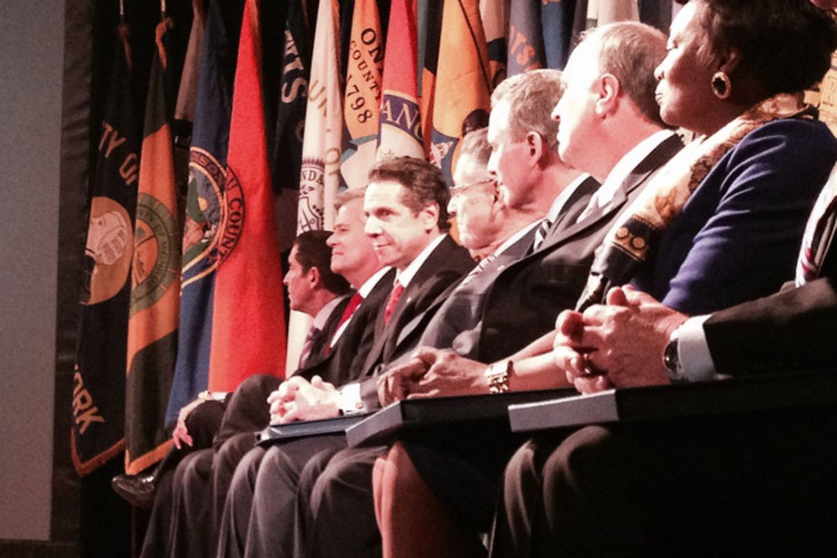 Legislative leaders from Gov. Andrew Cuomo's State of the State speech in January.