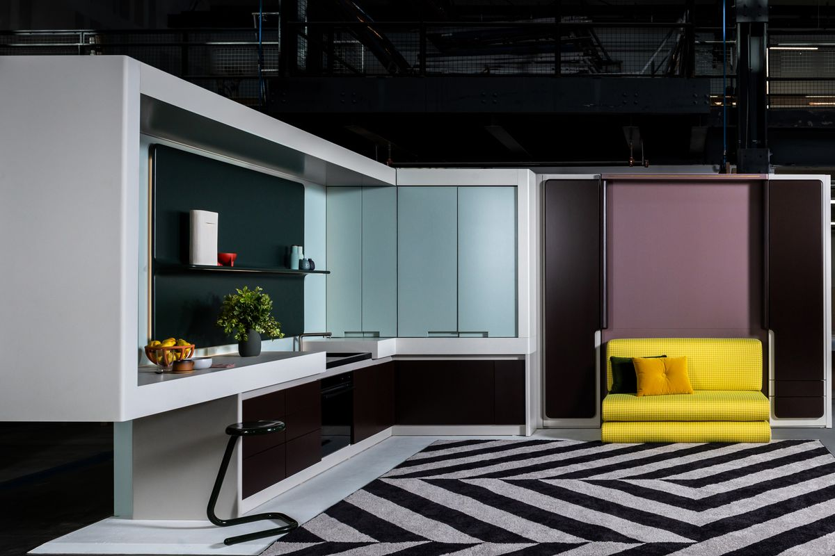 Tiny living concept showcases apartment with shape-shifting ...
