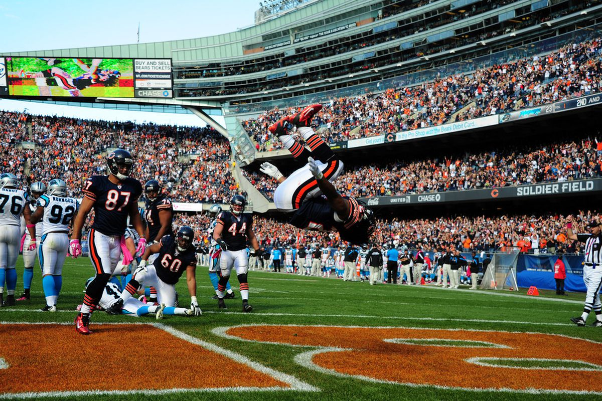 Marion Barber figures to be the feature back for Chicago while Matt Forte is on the mend.