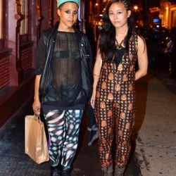 This is Ramdasha and Melissa on Howard and Broadway. Randasha is wearing a thrift-shop top and hat and Slu leggings. Melissa is wearing a custom jumpsuit.<br /><br />