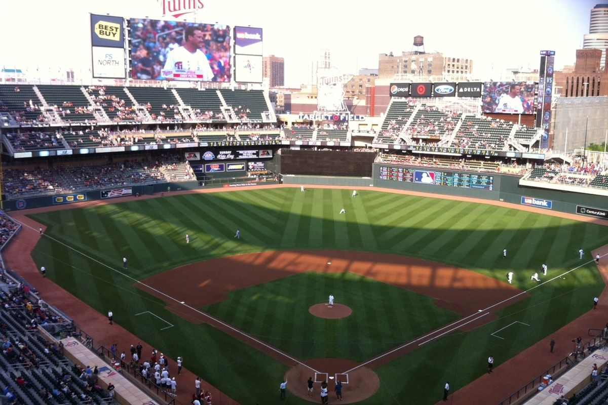 I didn't take a lot of photos on my trip, but I had to snap a pic of the view of Target Field from my seat.