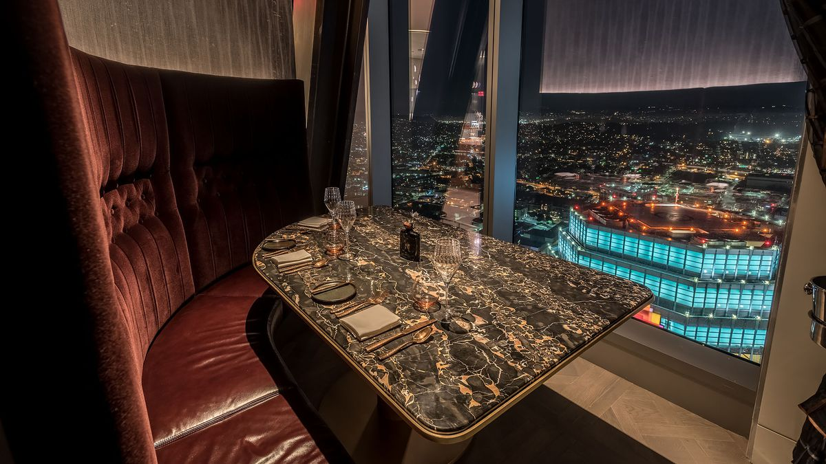 This Sky High Steakhouse Hovers 71 Stories Above Downtown