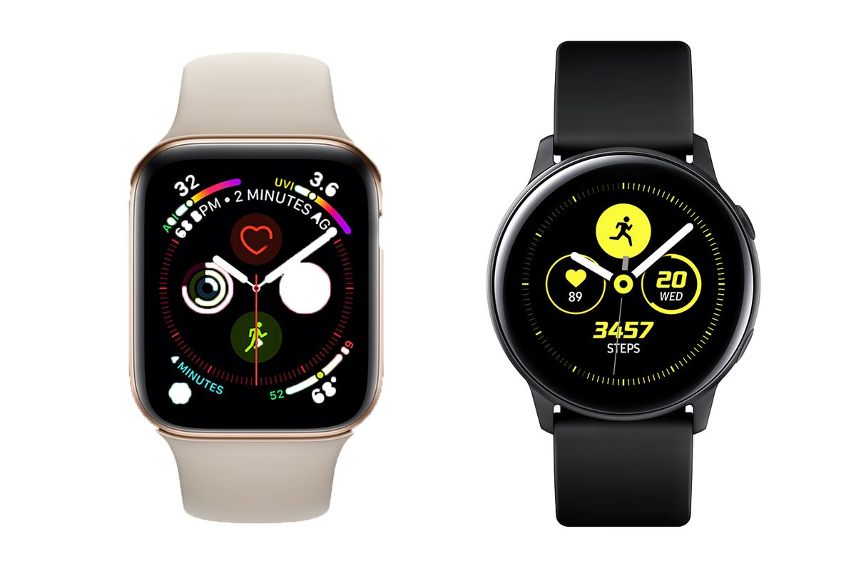 f3321fb9f57 Samsung Galaxy Watch Active vs. Apple Watch Series 4  rival ...