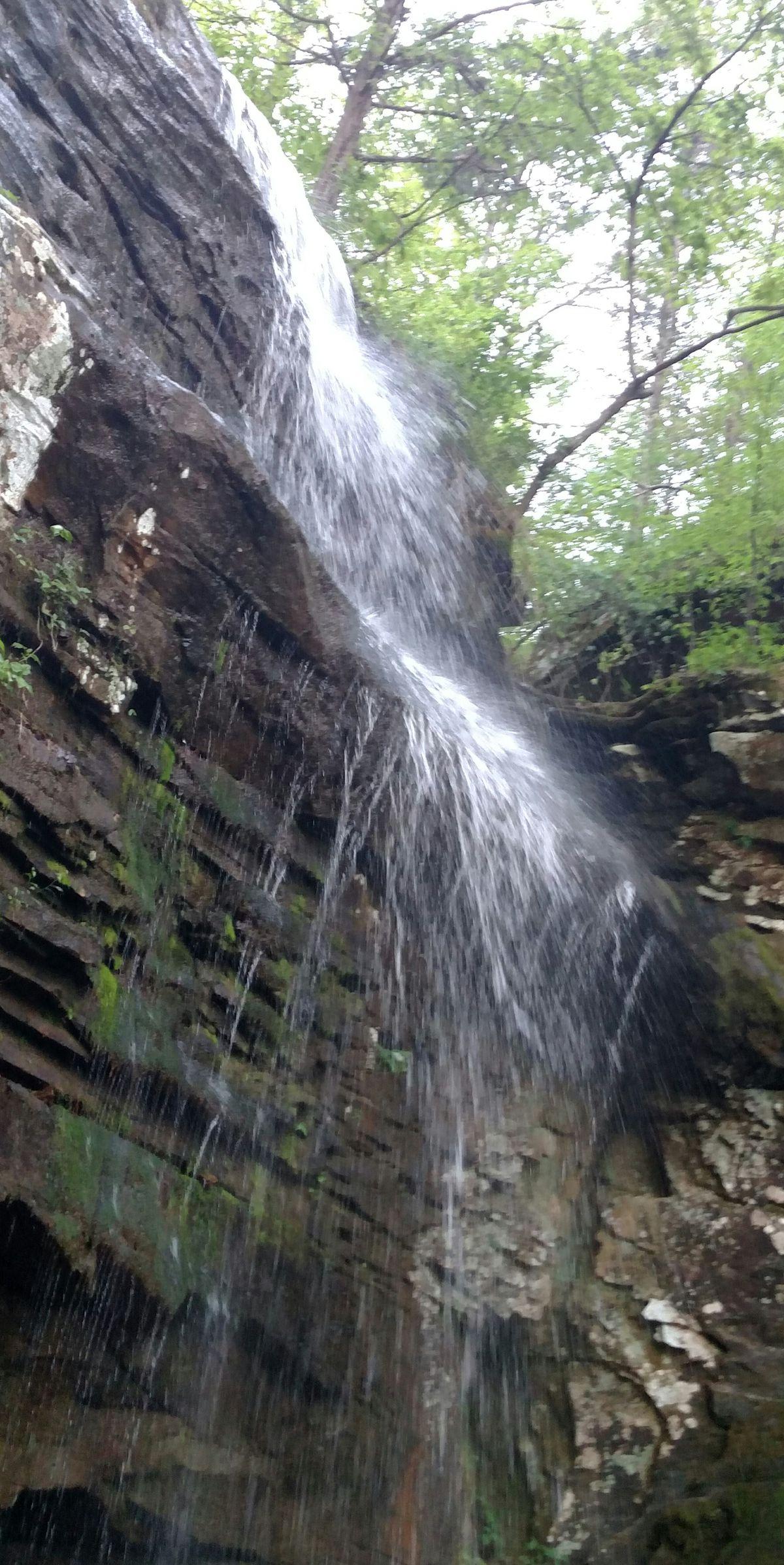 Burden Falls flowing good in April.<br>Credit: Dale Bowman