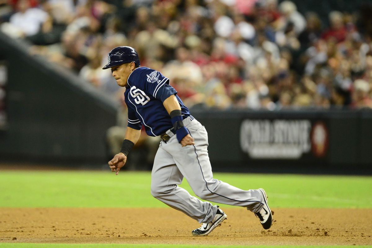 Everth Cabrera, doing what he does best.