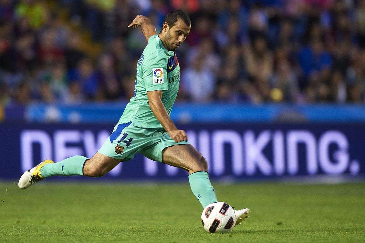 Mascherano - tied for second in passing in the Champions League. Really?