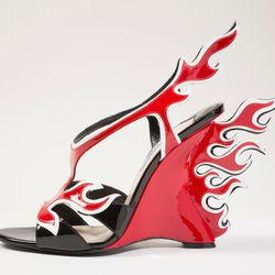 Prada's 'flame' shoe from Spring '12.