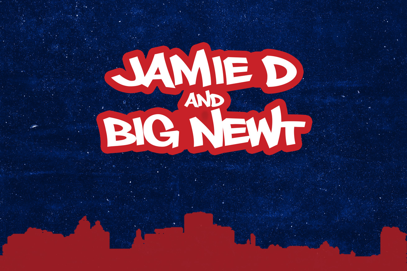 Jamie D and Big Newt podcast art