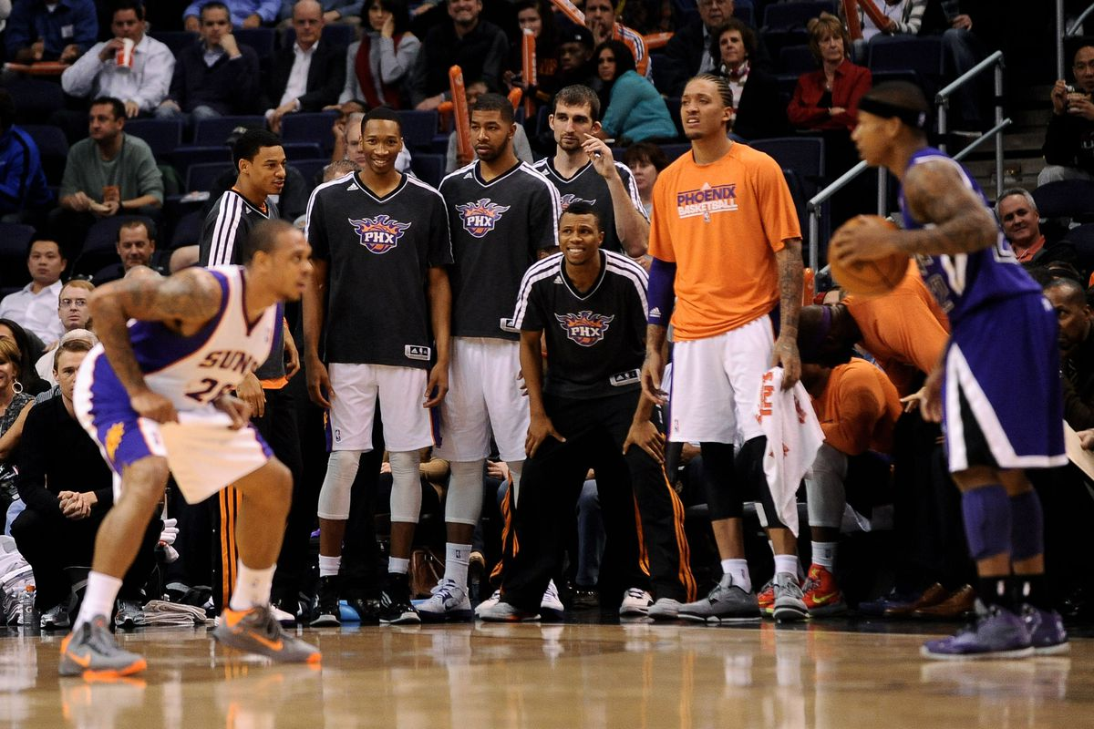 The Suns Bench particularly enjoyed their early Christmas present.
