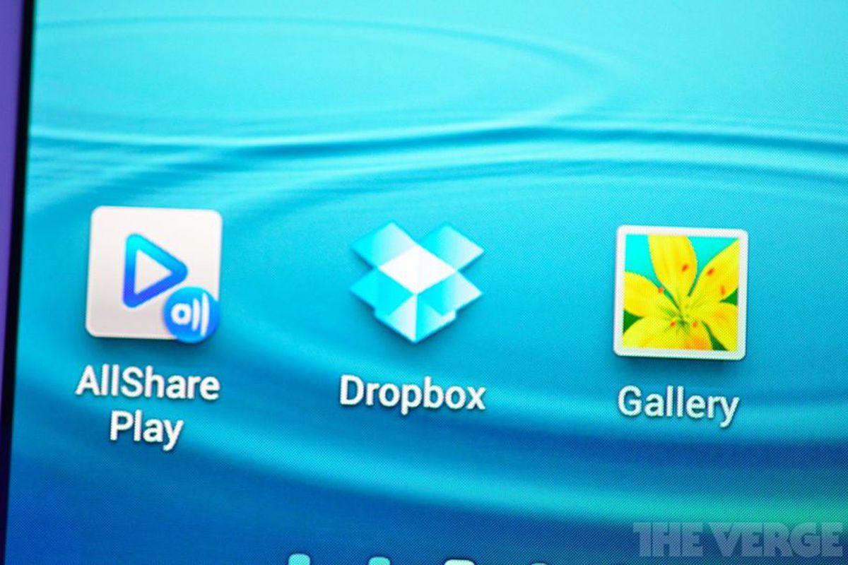 Samsung Galaxy S III Dropbox