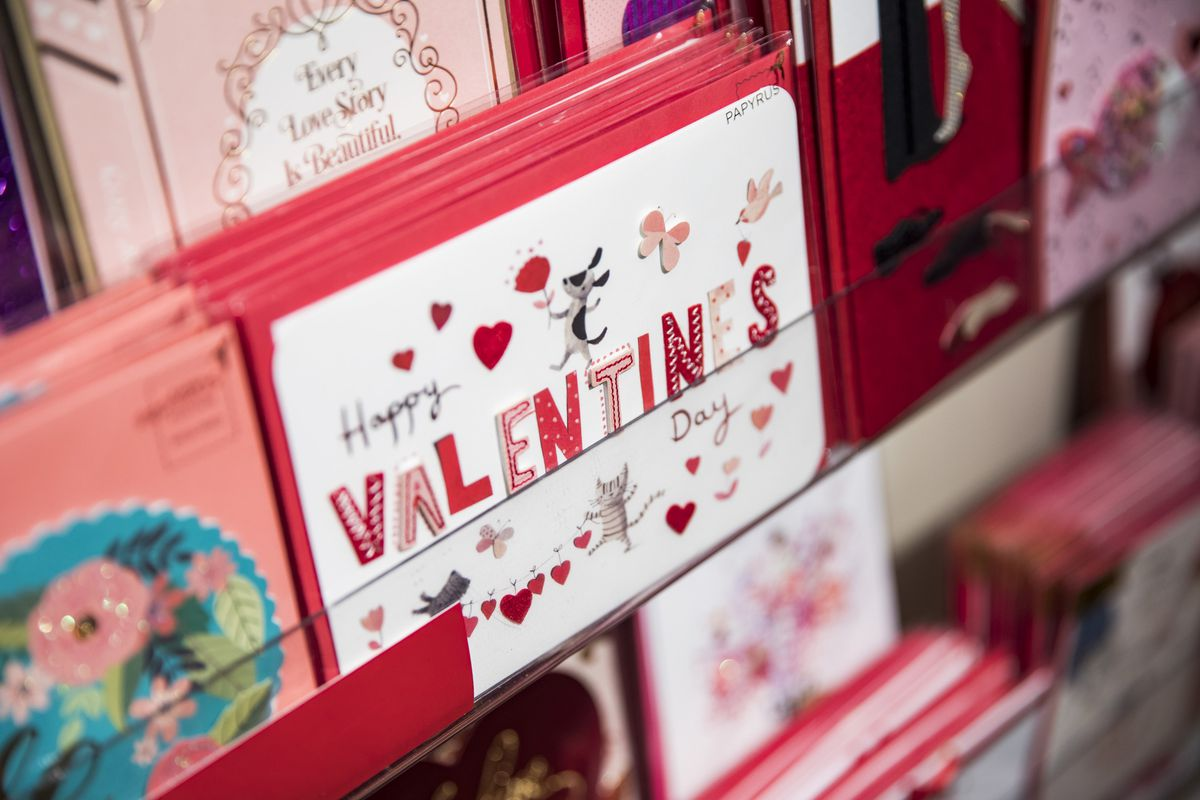 A Valentine's Day cards in a store.