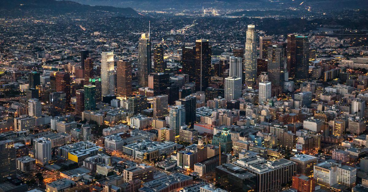Los Angeles skyscrapers skyline map - Curbed LA