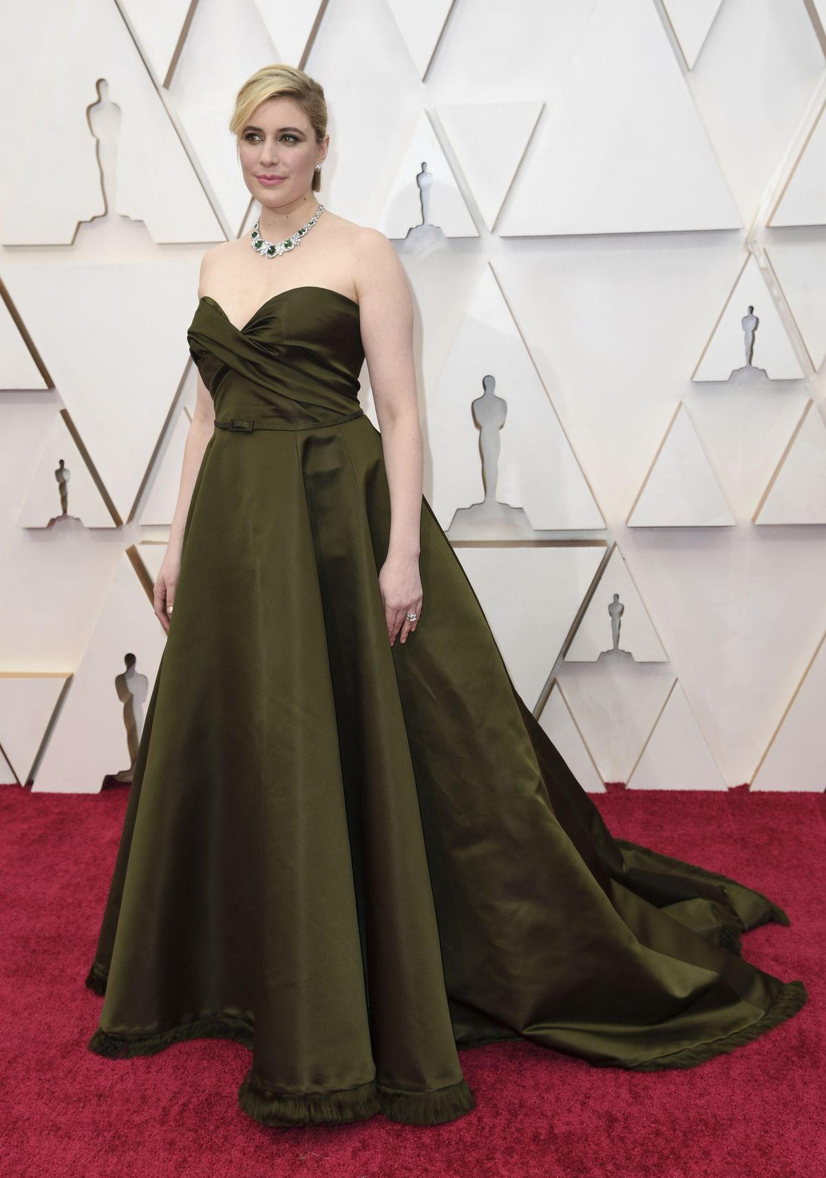 Greta Gerwig wears Dior Haute Couture at the Oscars on Sunday at the Dolby Theatre in Los Angeles.