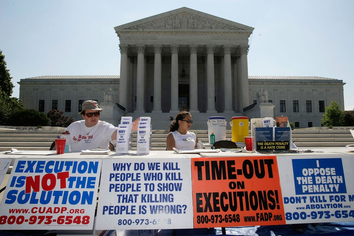 death penalty protesters
