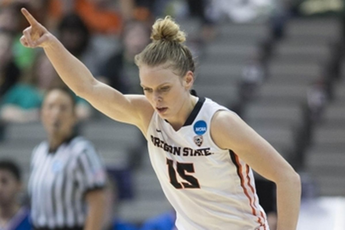 Onward and upward has been the motto for Jamie Weisner and Oregon State in this year's NCAA Tournament.
