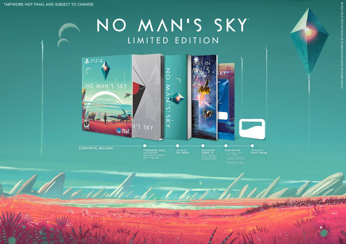 No Man's Sky Limited Edition PS4 contents 1600