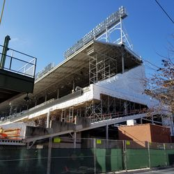 Left field upper and lower deck wide view