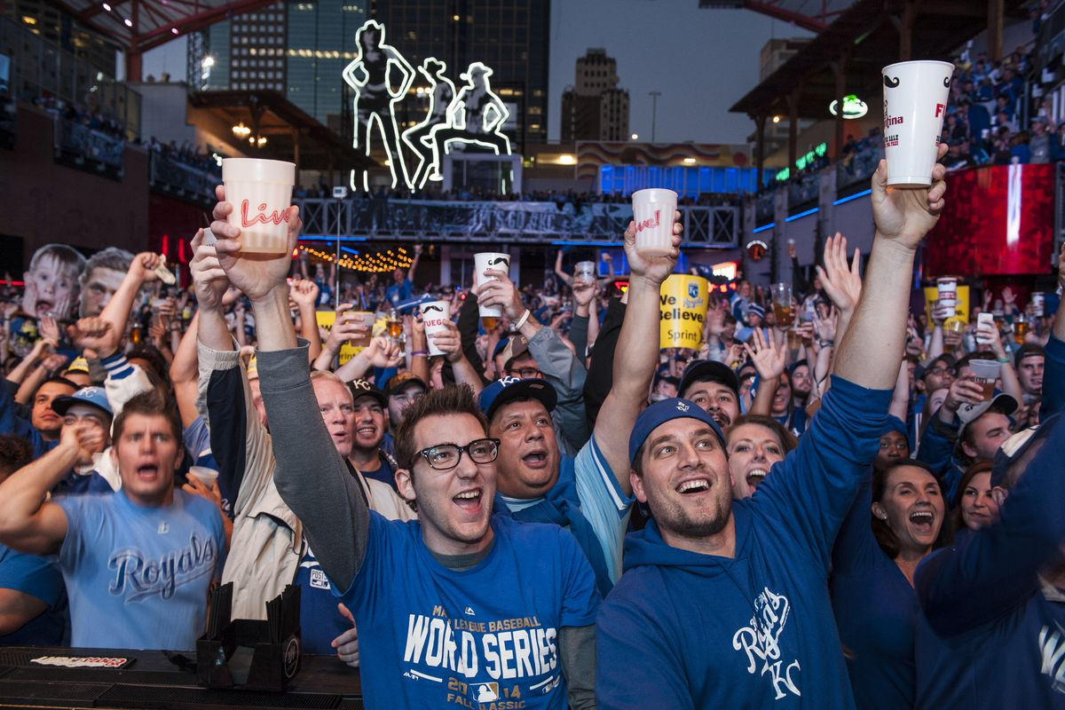 Kansas City Royals Fans Gather To Watch Game Seven Of World Series Against San Francisco Giants