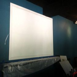 Scenes from surrounding bars will be projected onto this screen.