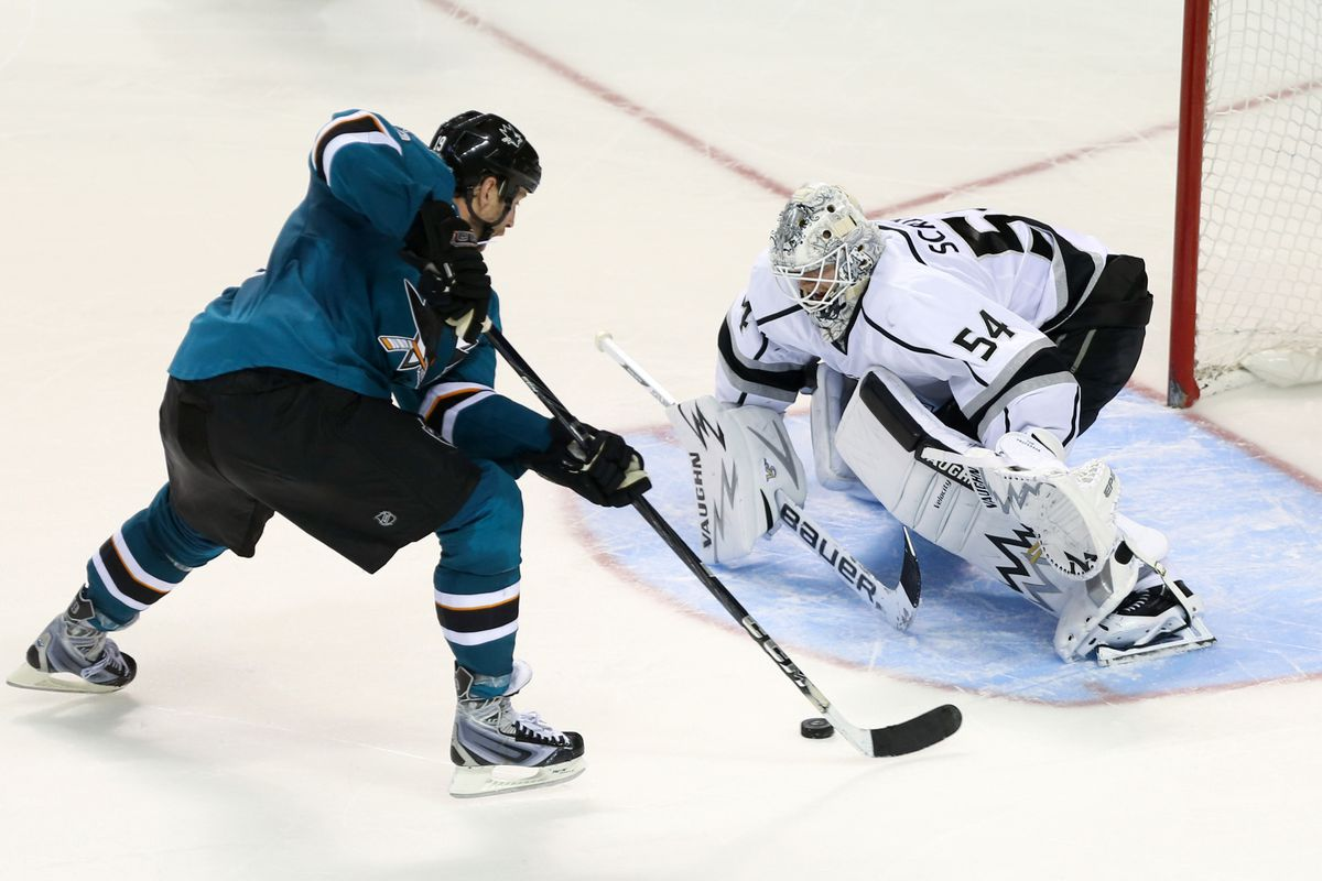 Scrivens didn't quite have Thornton's shootout attempt covered. It'd be the game-winner.