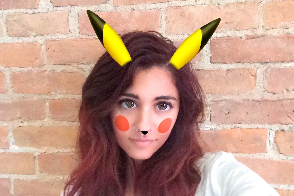 Snapchat now lets you Pikachu yourself