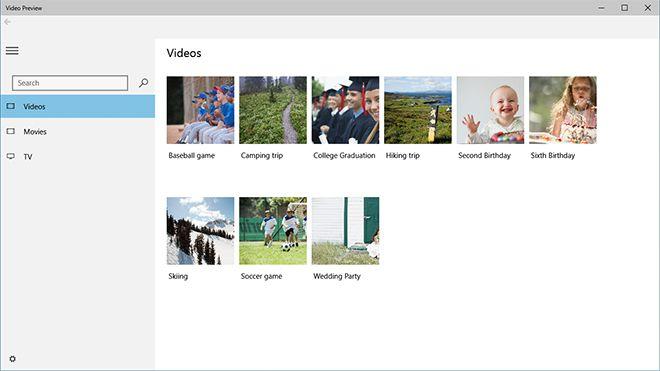 Windows 10 Video app