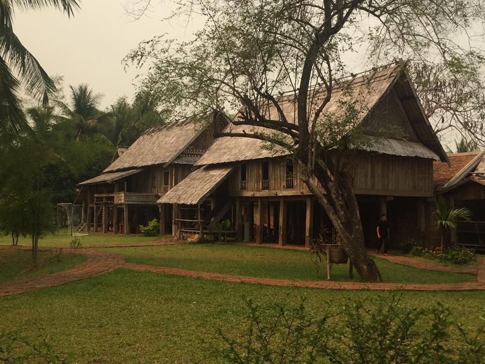 A camp where Thrival students from Oakland stayed in Laos.