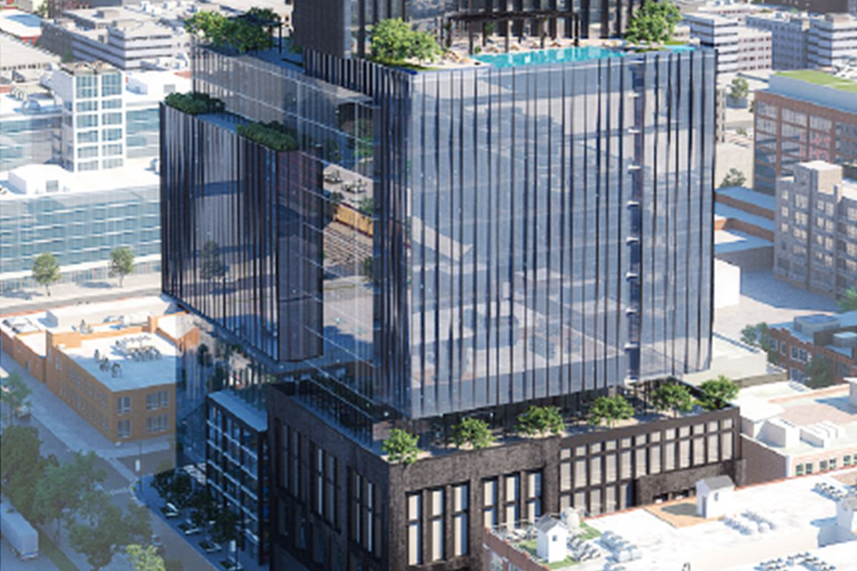 The proposed City Technology Center at 1101-25 W. Carroll Ave.