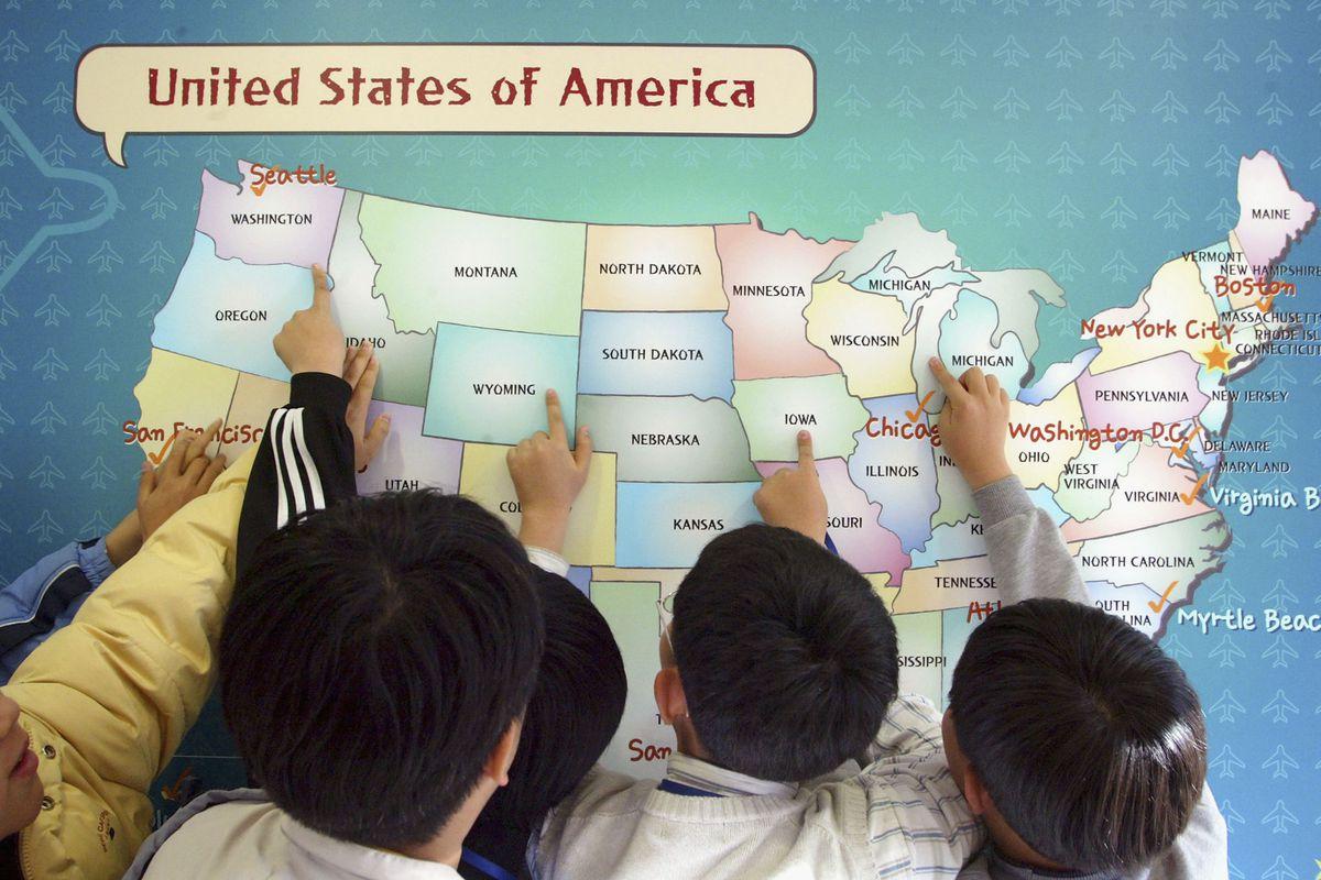 South Korean Students Practise Language Skills In An 'English Village'