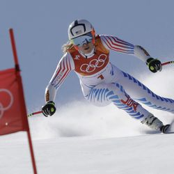 United States' Lindsey Vonn competes in the women's super-G at the 2018 Winter Olympics in Jeongseon, South Korea, Saturday, Feb. 17, 2018.