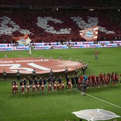 And then the game began, as Basti's two teams met on the pitch.