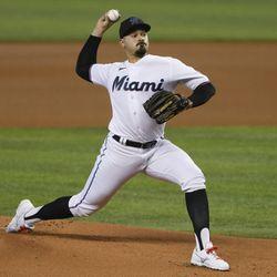 Pablo López, Marlins starting pitcher on Wednesday