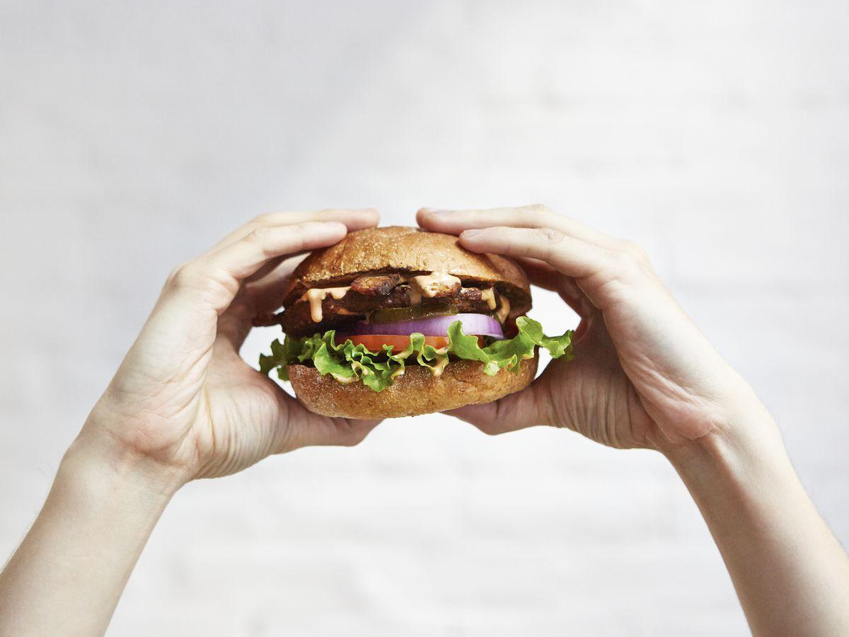 Hip City Veg's Ziggy Burger