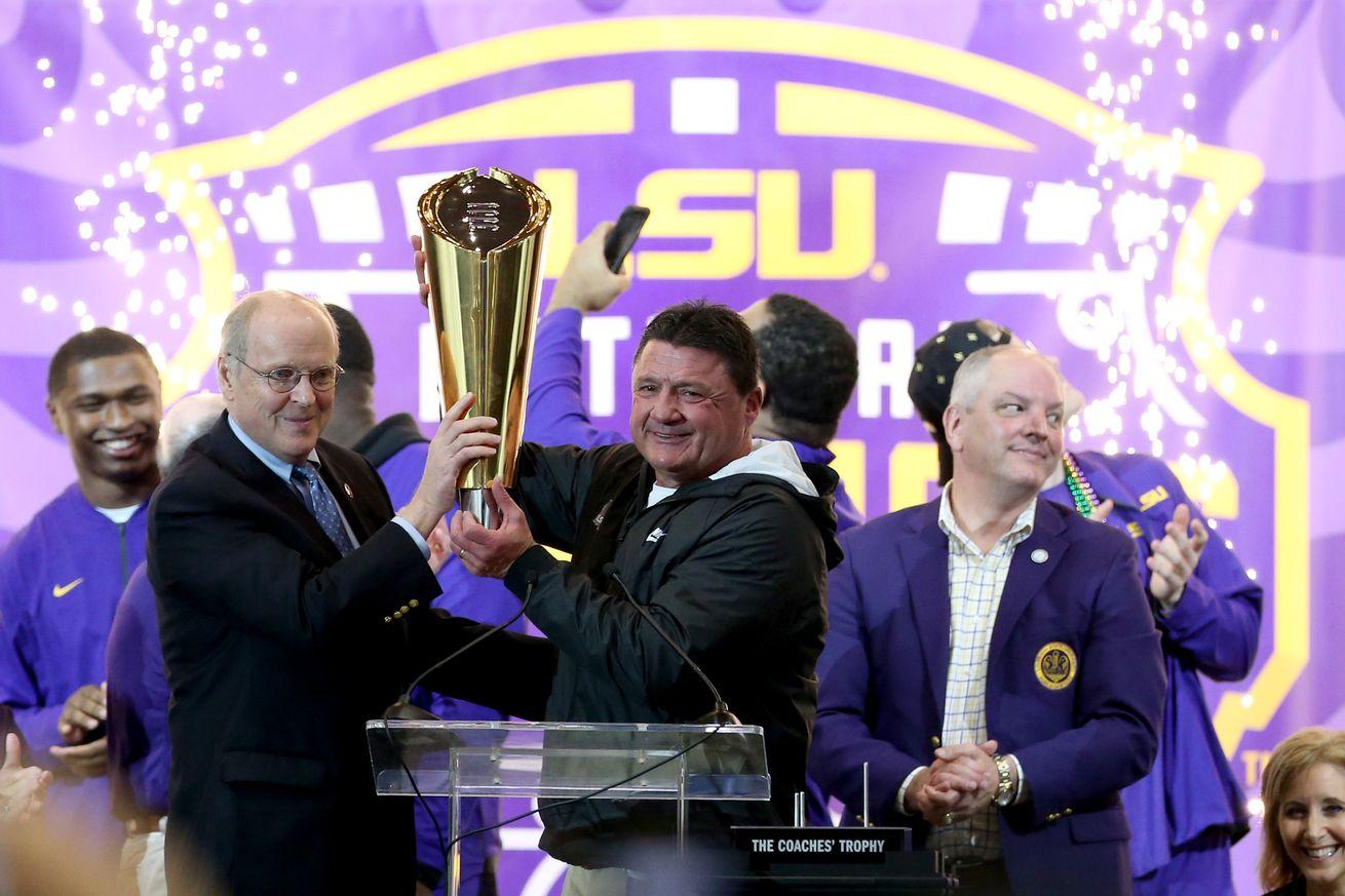 NCAA Football: College Football Playoff National Champions-Louisiana State Celebration