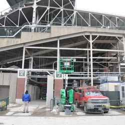 Wider view of Gate K/J -