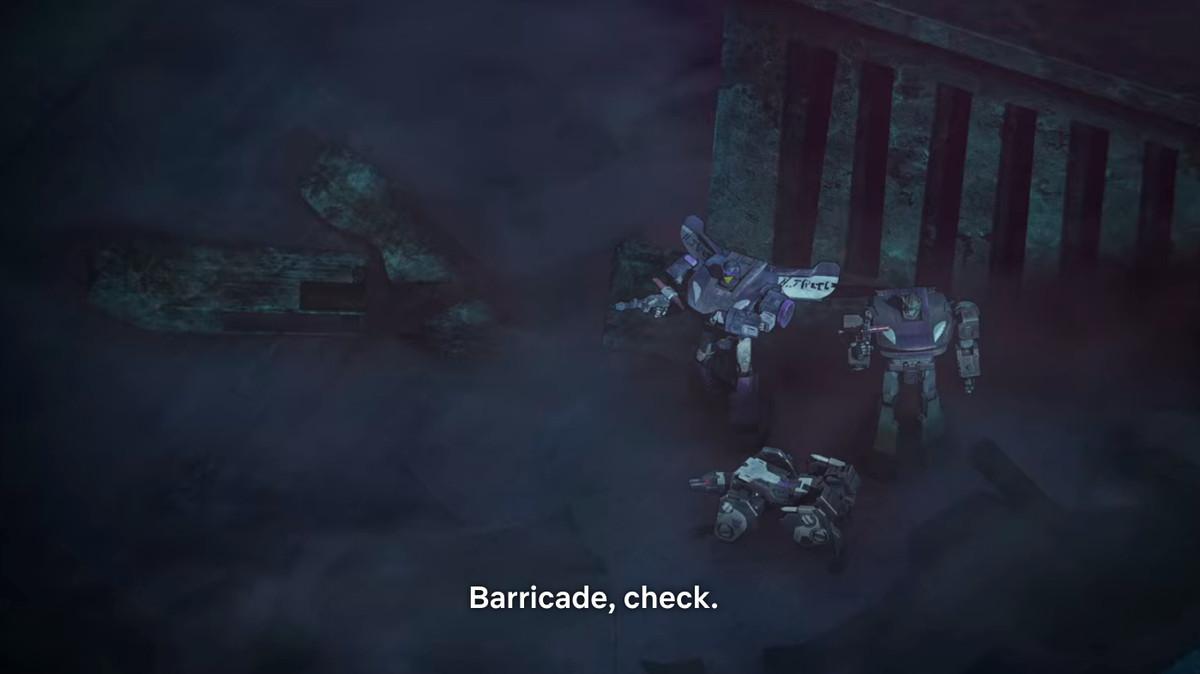 barricade in transformers: War for cybertron - siege